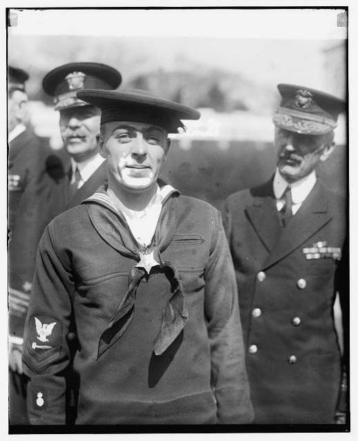 Henry Breault just after receiving his Medal of Honor, 8 March 1924 (Wikipedia / Public Domain)