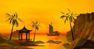 Asian Ocean sunset Digital Art by John Junek